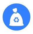 Garbage bag black icon for web and vector image vector image