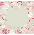 Garden flowers and herbs background vector image vector image