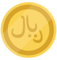 golden saudi arabia coin isolated on white vector image vector image