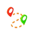 GPS navigator isometric 3d icon vector image