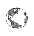 hand drawn global vector image