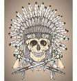 hand drawn native american indian headdress vector image