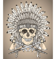 Hand drawn Native American Indian headdress with vector image vector image
