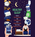 healthy sleep poster vector image vector image