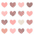 heart collection set of heart icons vector image