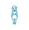 housewife linear icon concept housewife line vector image