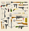 hunter and war military weapon vector image vector image