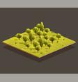 isometric woods area vector image vector image