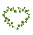 Ivy Vine in A Beautiful Heart Shape vector image vector image