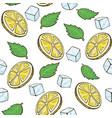 lemon mint ice seamless pattern citric texture vector image
