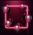 light and glow neon rectangle design neon frame vector image vector image