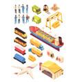 logistics industry isometric set vector image vector image