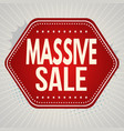 massive sale banner or label vector image vector image