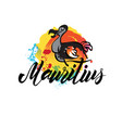 mauritius country with grunge design suitable for vector image vector image