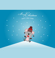 merry christmas and happy new year with cute rat vector image vector image