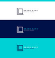 minimal square logo design concept vector image