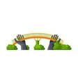 modern bridge city architectural design element vector image vector image