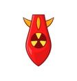 Nuclear warhead icon cartoon style vector image vector image