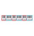 piano keyboard diagram - piano keyboard layout vector image