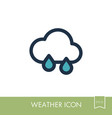 rain cloud icon meteorology weather vector image