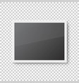 realistic picture frame on transparent vector image