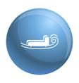 santa sleigh icon simple style vector image vector image