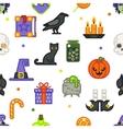 Seamless halloween pattern witch magic candies vector image