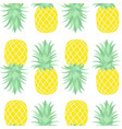 seamless pattern pineapple vector image vector image
