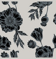 seamless pattern with hand drawn stylized poppy vector image vector image