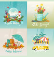 seasons signs for summer autumn spring winter vector image vector image
