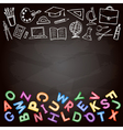 Set of school sign vector image