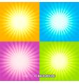 Set of Sunburst backgrounds vector image vector image