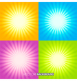 set sunburst backgrounds vector image