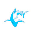 shark logo outline isolated concept template vector image vector image