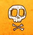 Skull and Bones Cartoon vector image vector image