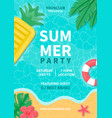 summer party poster summer beach party design vector image vector image