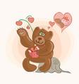 sweet gift valentine vector image