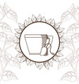 tea bag with cup vector image