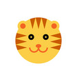 tiger cartoon animal head vector image vector image