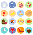 travel and summer beach icon set vector image