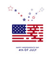 us flag in the style of rounded lines hipster vector image vector image