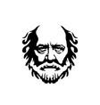 vintage hipster greek philosopher old man vector image