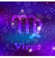 virgo zodiac sign on a cosmic purple background vector image