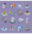 Webinar Podcasting Icons Set vector image vector image