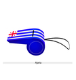 White and Blue Stripe on Ajaria Whistle vector image vector image