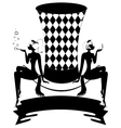 white-black top-hat vector image vector image