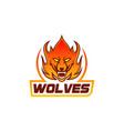 wolves mascot logo design template vector image vector image