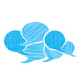 set of bubbles for a chat with different types of vector image