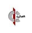 Letter C logo template vector image