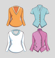 stylish woman fashion clothes vector image